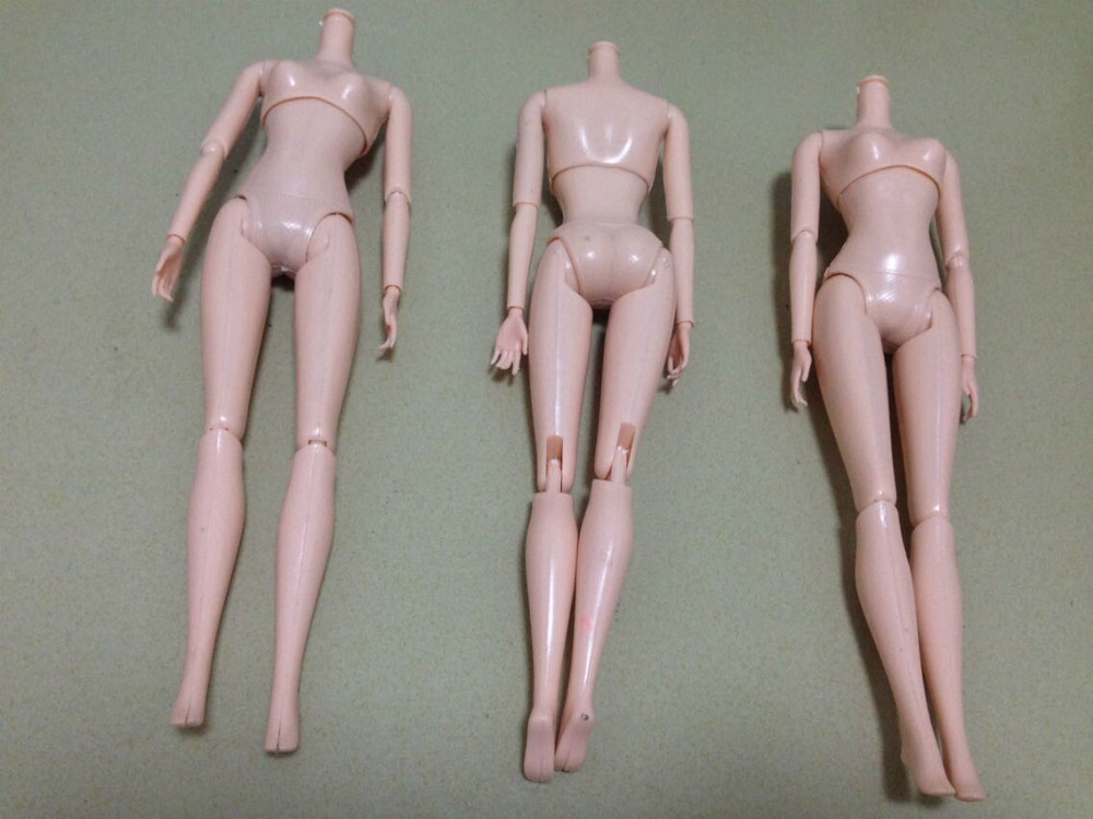 O for U Toy 10Pcs/lot NO.YL1292 Doll Naked Body Necessary For Barbies DIY 12-Joint Doll Body Without Head Kids Educational Toy