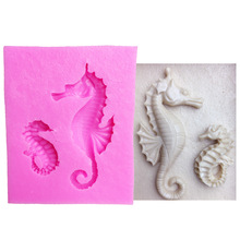 M1007 Cake Tools sea horse seahorse mould silicone mold Cake Fondant tool Decorating DIY Kitchen Baking Bakeware