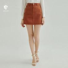 03348e9d74 FANSILANEN 2018 nueva llegada moda verano primavera mujeres faldas Denim  faldas Midi alta cintura ropa barata China Z80370