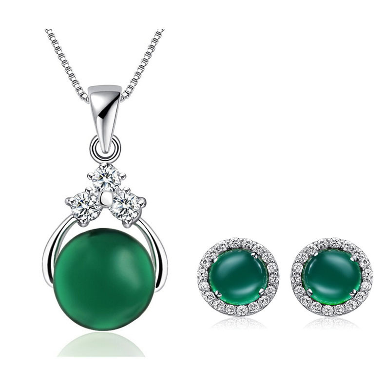 Ensure that female AAA 100% pure silver 925 pendant jewelry set with free shipping