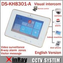 "Hik 7""' Farbe Videoanlage DS-KH8301-A Mit 8 Zugang SOS Notfall Indoor Video Mornitor Unterstützung Ip-kamera Alarm"