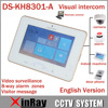 Hik 7 Color Touch Screen Video Intercom DS KH8301 A With 8 Access SOS Emergency Indoor