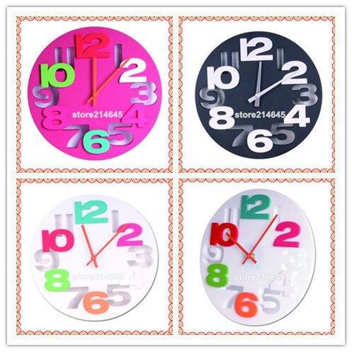 j27/Free shipping Fashion ideas bump no picture frame bracket clock digital mute wall clock