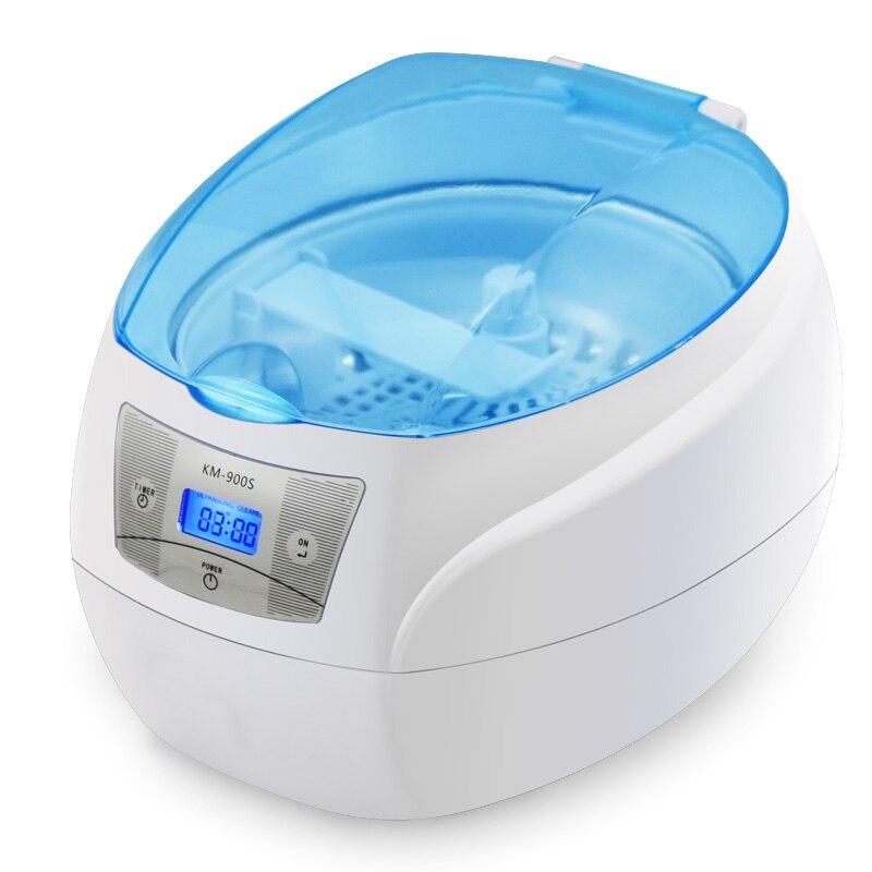 Nettoyeur à ultrasons bijoux montre dentaire lunettes brosses à dents outil de nettoyage 750 ml nettoyage à ultrasons Machine à laver