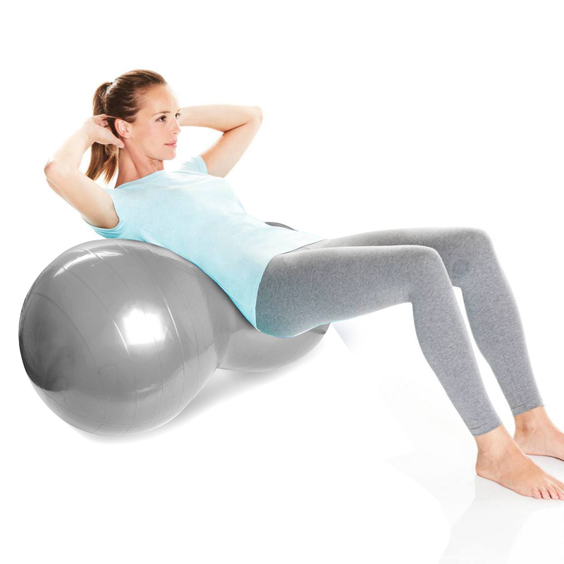 Yoga Supplies Explosion-proof Yoga Peanut Ball Fitness Rehabilitation Physical Therapy Ball-Gray