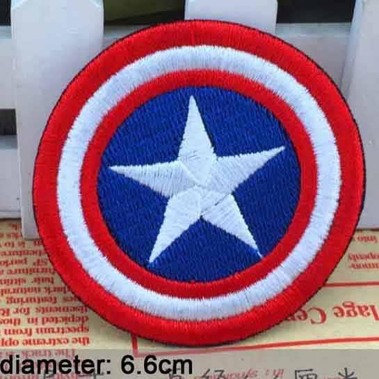 Vengadores Deadpool niños Hulk superhéroe Capitán América Iron On parche bordado ropa parche para ropa niños ropa
