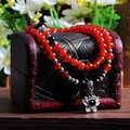 JoursNeige Natural Red Agate Bracelets 108 Beads 6mm Round Multilayer Fashion Quartz Stone For Women Jade  Jewelry Accessories