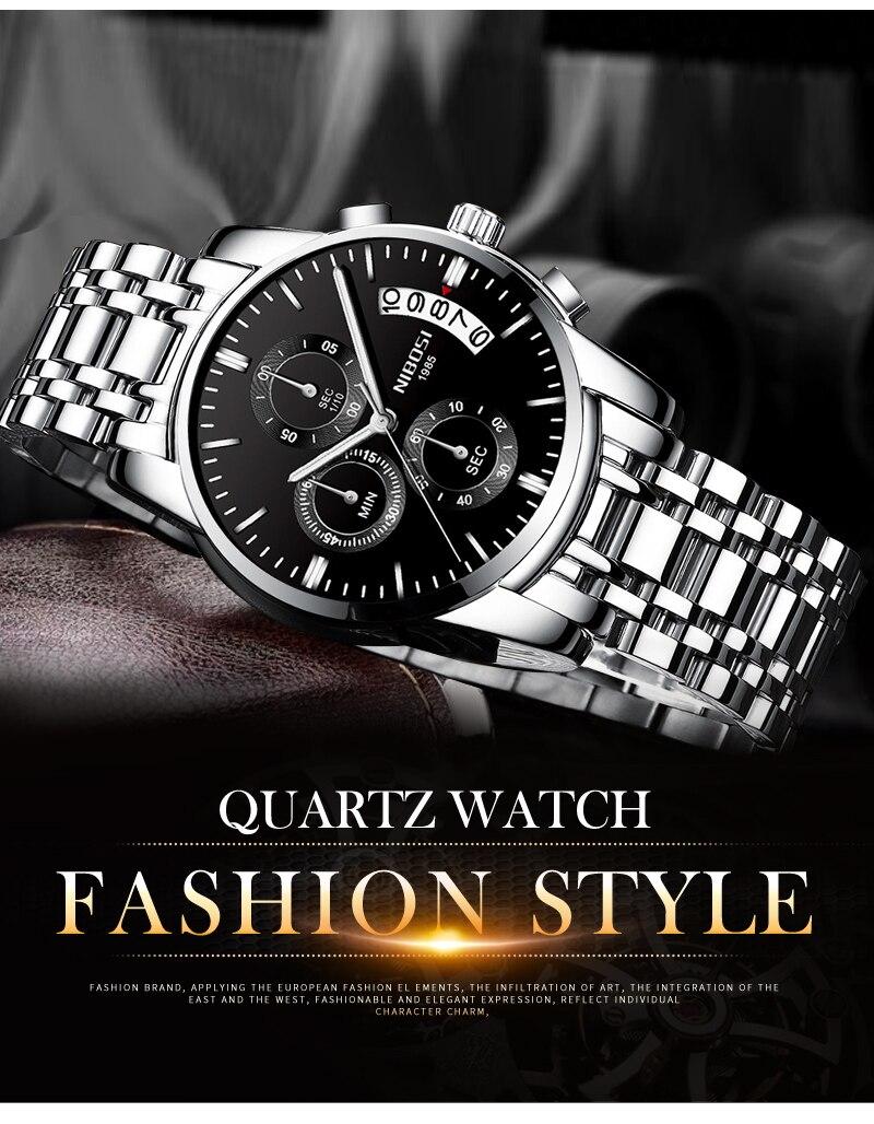 Relogio Masculino NIBOSI Mens Watches Top Brand Luxury Dress Famous Brand Watch Men Waterproof Calendar Luminous Erkek Kol Saati (12)