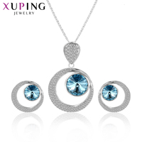Xuping Luxury Noble Refined Fashion Jewelry Sets Popular Crystals From Swarovski Charm High Quality Party Gift