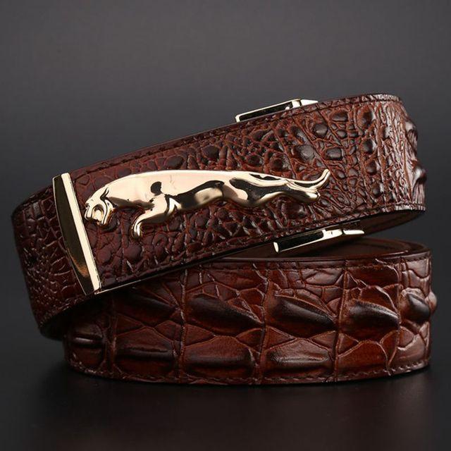 Faux Crocodile Skin Belt