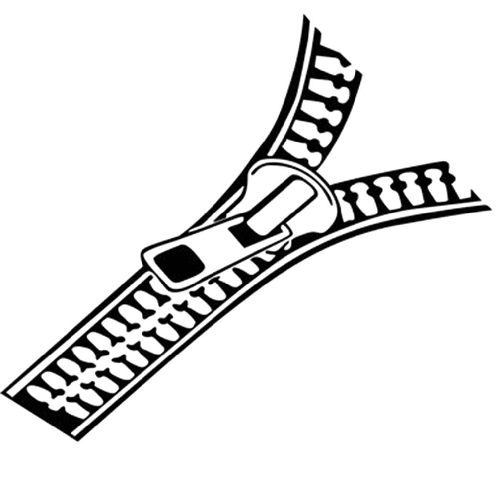 Zipper Line Art : Clothes zipper car stickers refit motorcycle decor