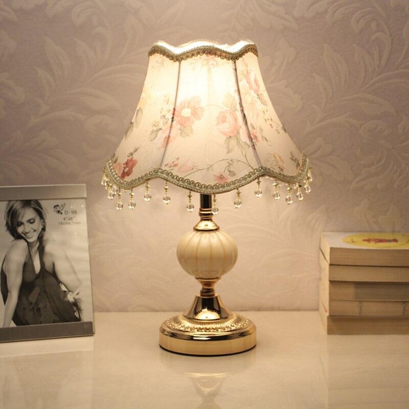 E27 Европейский затемнения настольная лампа для прикроватная тумбочка для спальни Чтение свет Главная Спальня Гостиная украшения внутренне...