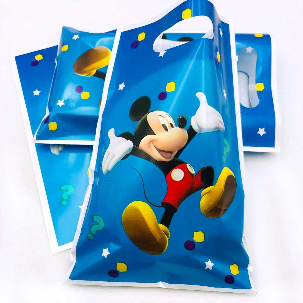 10pcs Classic Mickey Mouse Gift Bags 2nd Birthday Decorations Ideas Baby Boy Party Supplies Cartoon Candy