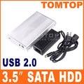 Super Velocidad de 3.5 pulgadas SATA HDD Recinto Caja de disco Duro duro Caso Cartucho de disco Plug and Play Intercambiables En Caliente para el Ordenador Portátil escritorio