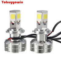 Newest 2pcs H7 120W 10000LMS Cree COB Chip Canbus Error Free LED High Power White High