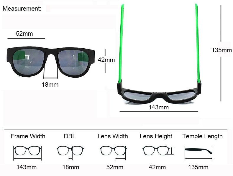 Fashion Men Women Polarized Sunglasses Beach Foldable Color Male Female Retro Shade Brand Designer Eyeglasses Oculos De Sol