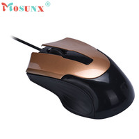 Mosunx Advanced 2017 100% brand new and high quality Fashion 1000 DPI USB Wired Optical Gaming Mice Mouse For PC Laptop 1PC
