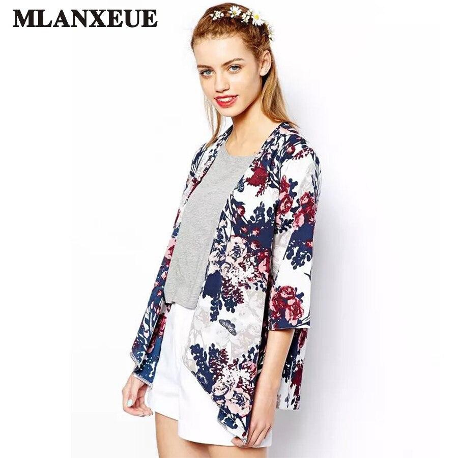 ツ)_/¯2017 moda retro kimono mujer gasa impresión mujer camiseta ...