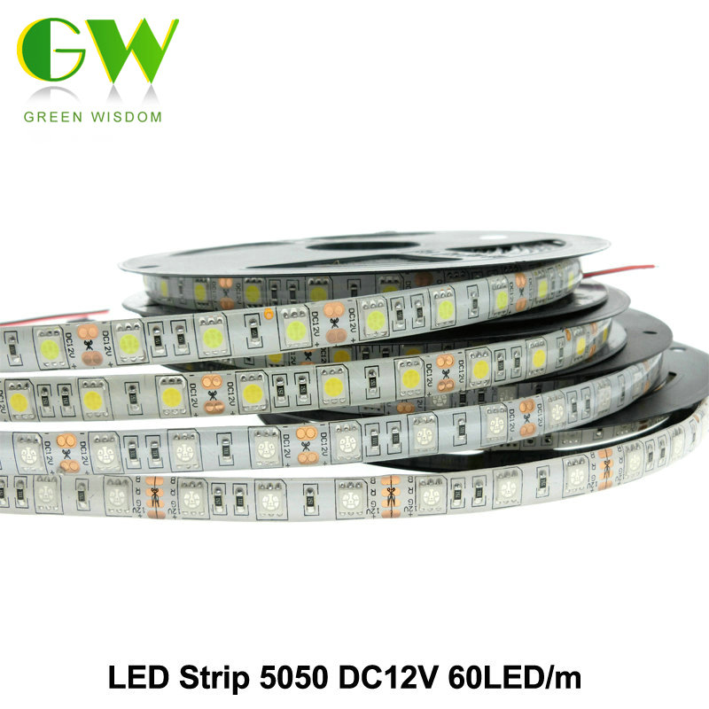 LED Strip 5050 DC12V Flexible LED Light Waterproof / No Waterproof 5050 RGB / RGBW LED Strip 60LEDs/m 5m/lot. 10m 5m 3528 5050 rgb led strip light non waterproof led light 10m flexible rgb diode led tape set remote control power adapter