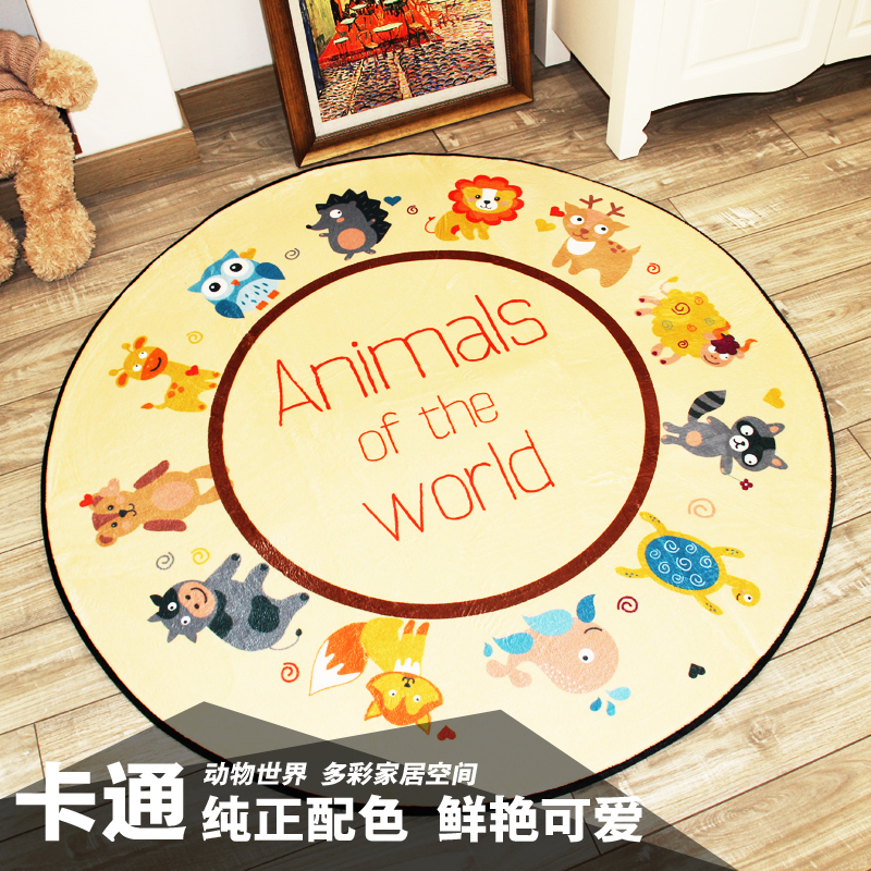 New Round Carpets for Living room bedroom Rugs Kids Room computer chair Mat/Rug Bath Kitchen Waterproof Non-slip Cartoon Carpet