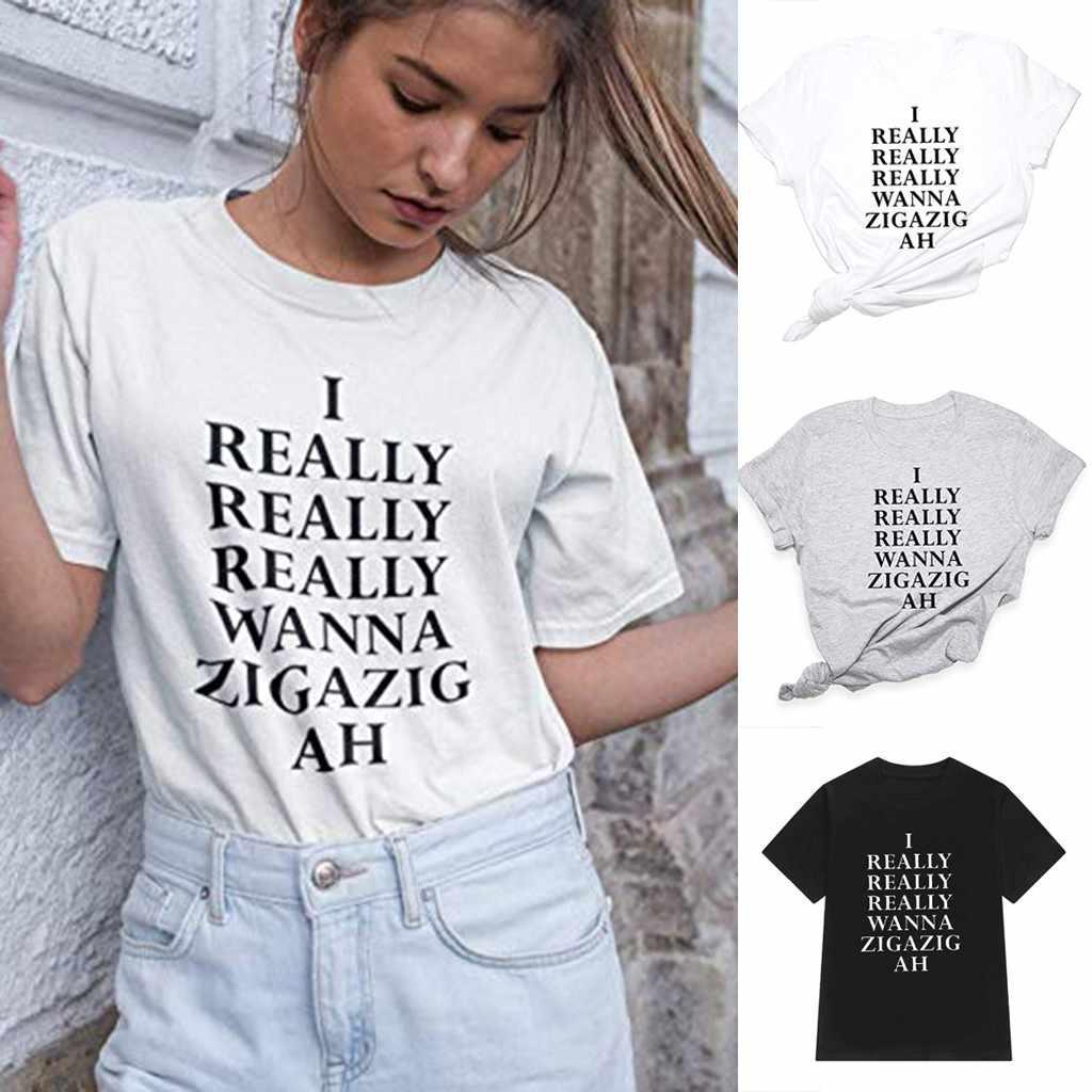 2019 Tshirt kobiet moda koło kołnierz drukowane z krótkim rękawem wygodne topy koszulka Camiseta Mujer Top kobiety Harajuku T koszula