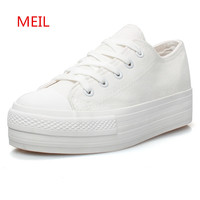 Classic Flats Canvas Shoes Woman White Black platform Sneakers Women Casual Shoes Ladies Trainers Footwear Zapatillas Mujer
