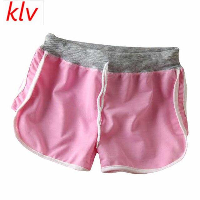 0b3b24caa KLV 2017 Women Fashion Summer Casual Comfortable Workout Waistband Shorts  Loose Short Pants Pantalones Cortos Mujer Deporte
