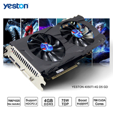 Yeston GeForce GTX 1050Ti GPU 4 ГБ GDDR5 128 бит игровой Настольный компьютер PC поддерживает видео Графика карты Ti