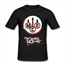 Mens Slim Fit T Shirt Size 3XL - MY CHEMICAL ROMANCE Rock Band Loose Black Men T-Shirts Homme Tees Interesting Pictures