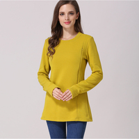 Emotion Moms New Long Sleeve Maternity Clothes COTTON winter Nursing Top Maternity tops for Pregnant Women Breastfeeding T-shirt