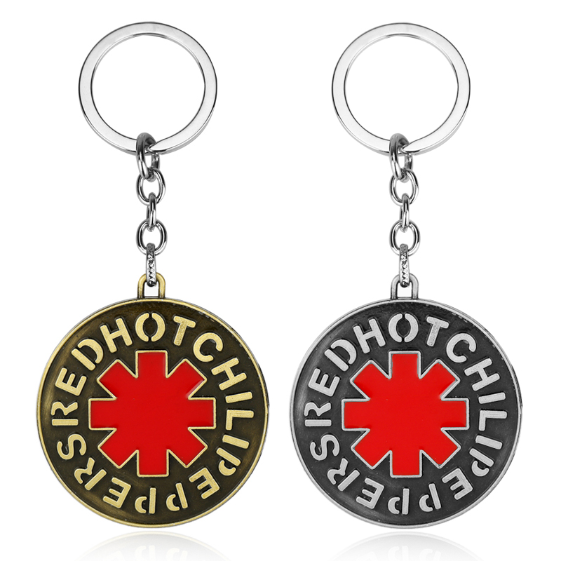 MQCHUN Red Hot Chili Peppers Keychain Music Band Enamel Metal Key Rings Holder Gift Chaveiro Car Key Chain Jewelry Souvenir YS16