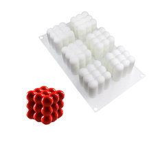 6 Cavities Silicone Spheres Form Geometric Desserts 3D Art Mold Cake Baking Chocolate Mousse Pastry Mould For Decorating Tools