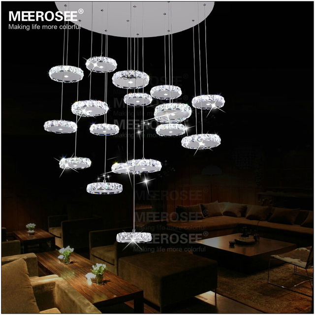 Led diamond crystal small rings pendant lighting fixtures staircase led diamond crystal small rings pendant lighting fixtures staircase lights modern led indoor hanging lights size aloadofball Image collections