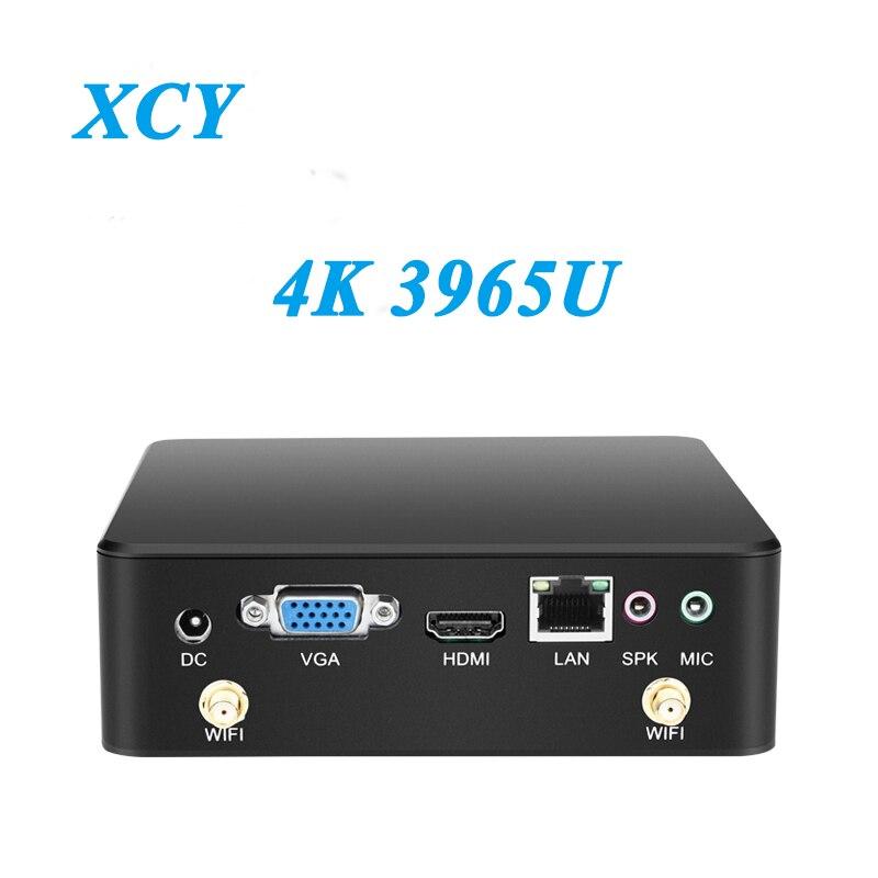 Mini PC Celeron 3965U Windows 10 4K Support HDMI VGA USB3.0 300M WiFi TV Box Micro PC NUC Ultra Compact and Silent minipc