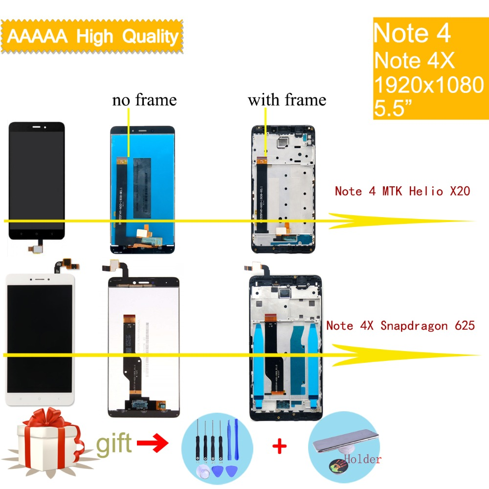 Top 99 Cheap Products Xiaomi Redmi Note 4x Display With Frame In Lcd Touchscreen 1 For 4 Mtk Helio X20 Touch Screen Assembly Snapdragon 625