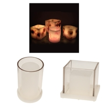 Square & Cylinder Hollow Tealight Candle Making Moulds DIY Handmade Aromatherapy Candle Scented Candle Mold Dried Flower Mold