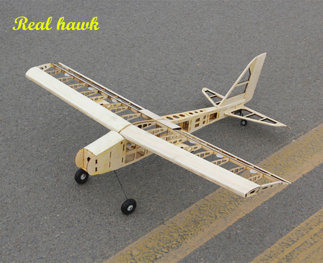 timeless design 8a24b 70b4f RC Plane Laser Cut Balsa Wood Airplane Kit New 2.5-4.5cc nitro trainer  Frame without Cover Free Shipping Model Building Kit