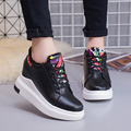 Platform Shoes Women's Flat Lace-up Casual Height Increasing Shoes Korean Version Fashion Students Shoes for Woman