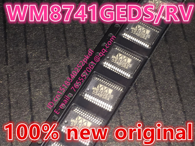 100% new imported original WM8741GEDS/RV WM8741GEDS WM8741 audio decoder D/A converter SSOP-28 danjue 8741 1