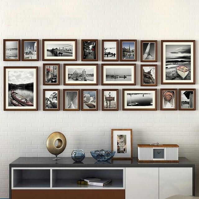 20 unids/set estilo europeo vintage Collage Marcos Pure negro y ...