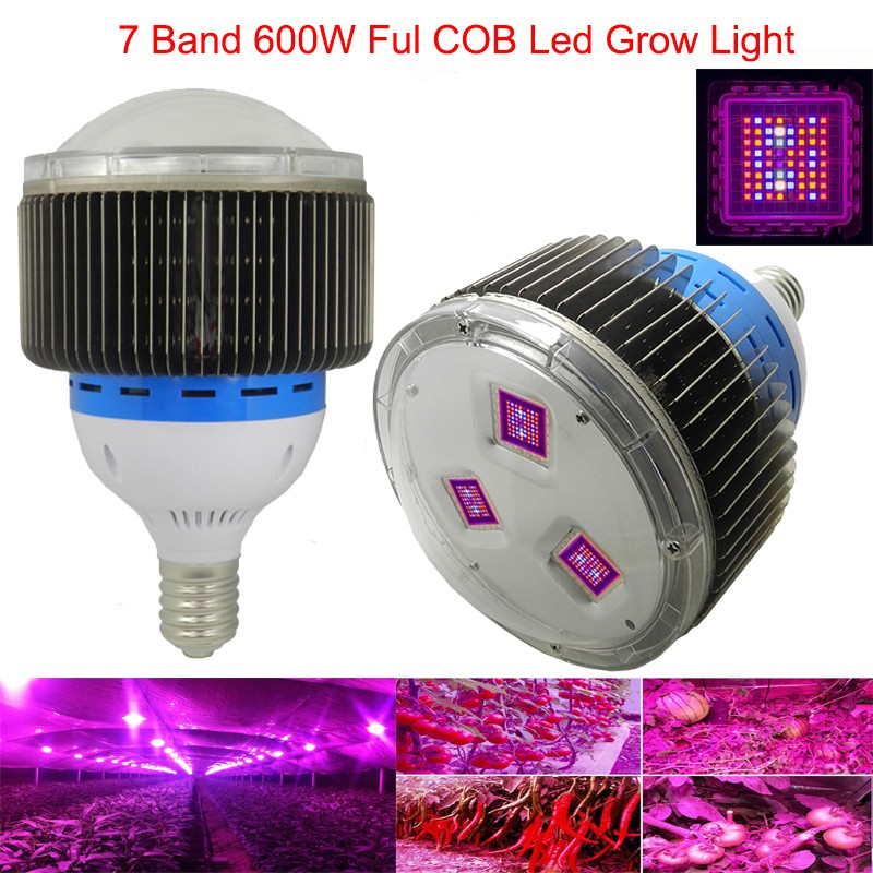 Full Spectrum 7 Band 600W COB LED Grow Light Red+Blue+UV+IR Led ...