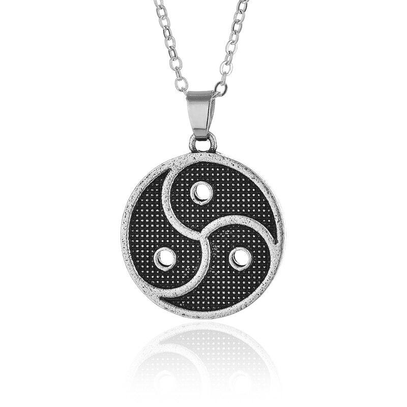 10pcs symbol emblem pendant triskel BDSM pendant necklace fifty shades of grey CT693