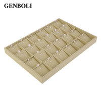 24 18 Slots Perfect Earring Necklace Pendant Bracelet Jewelry Display Tray Box Container Boxes Makeup Case