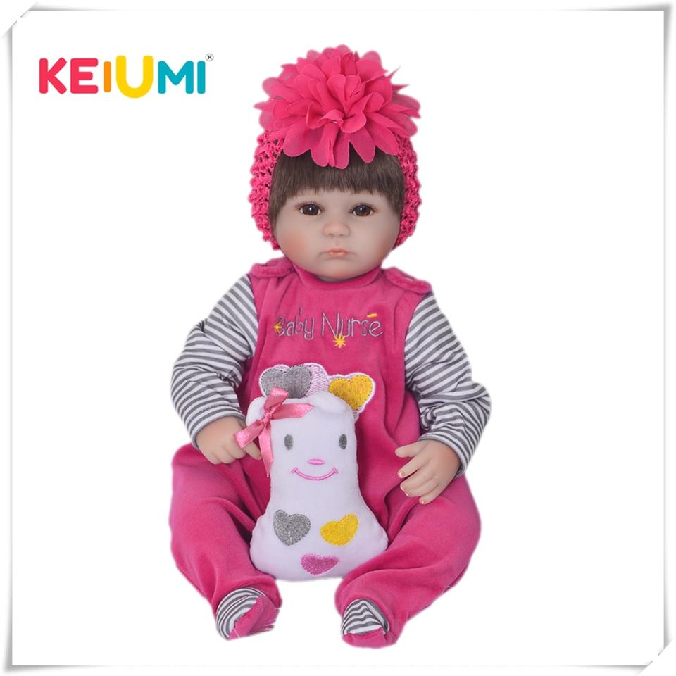 17 Inch Soft Silicone Reborn Dolls Realistic Newborn Baby Girl For Sale Lifelike Baby Dolls Kids