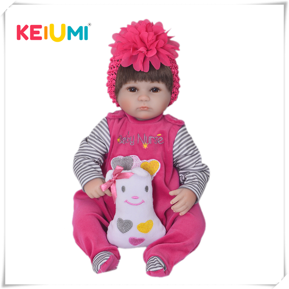 18 дюймов Мягкие силиконовые Reborn куклы Реалистичная кукла-новорожденный девушка для продажи Реалистичная похожая на ребенка Дети Playmate