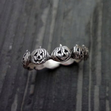 New Arrival Unique Style  Halloween Pumpkin Ring 925 Silver Finger Women Jewelry Gifts