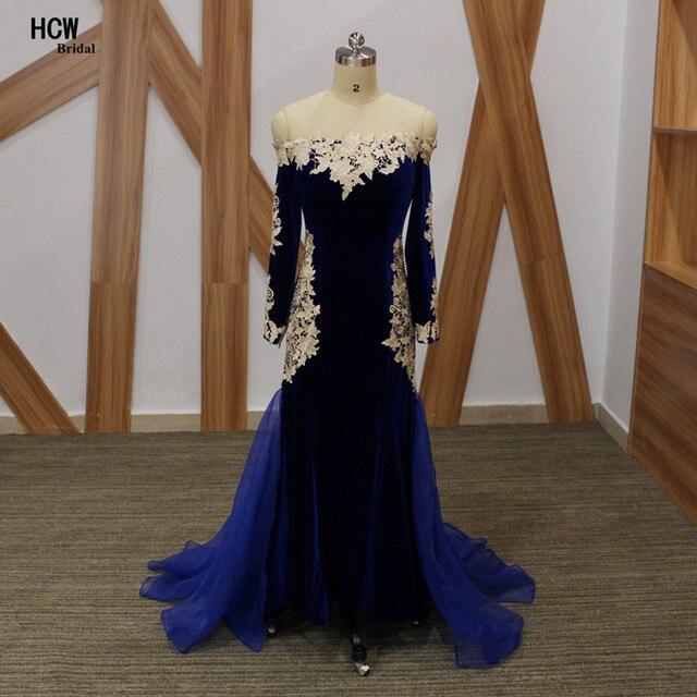 Robe de soiree bleu velours