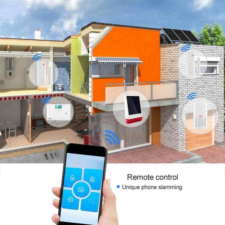 Casa de Assaltante Alarme óptico-acústico 1 Portão Ímã Kit 03B 2 Sirene De Controle Remoto 110-240 V