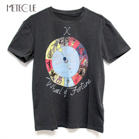 Mystery Tarot Series Print O Neck T Shirt Women Casual 100% Washed Cotton Short Sleeve T shirt Women Tops Spring Summer 2018
