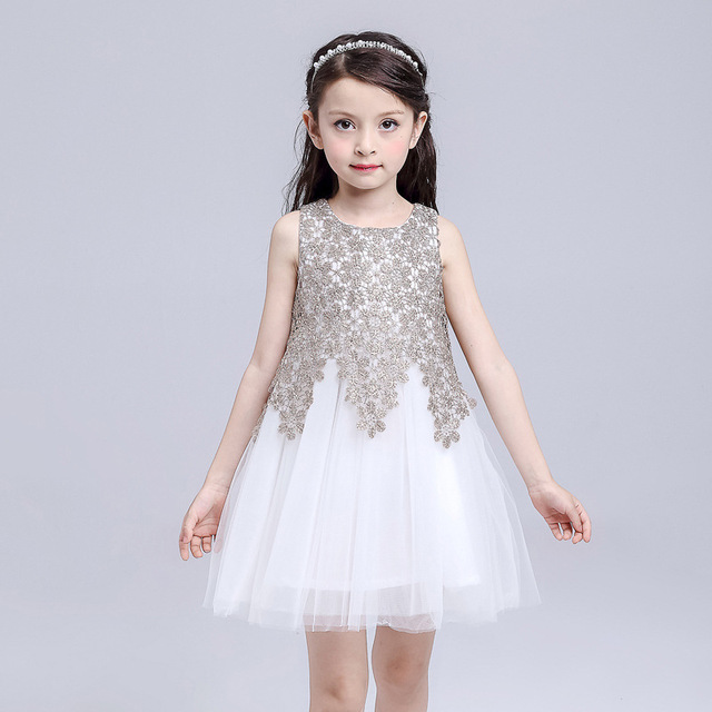 4babc281c4e0 Girl Formal Party Princess Dress Girls High Quality Lace Wedding ...